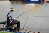 Fishing on Bude Canal in North Cornwall