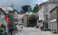 Camelford - a market town in North Cornwall - during the 750 year charter celebration