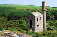Engine House at the Prince of Wales Quarry near Trewarmett in North Cornwall