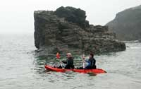 Kayaking at Tintagel Haven