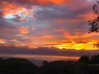 Sunset from Park Fark overlooking the North Cornish coast